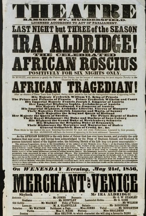 Ira Aldridge – Black Thespian Played to European Audiences