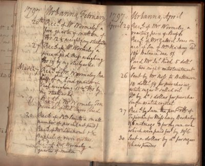 virginia tobacco plantation ledger urbanna slavery wormeley wormly bacon's rebellion